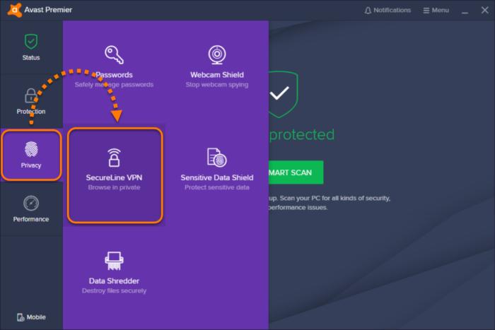 vpn avast secureline (5 appareils)