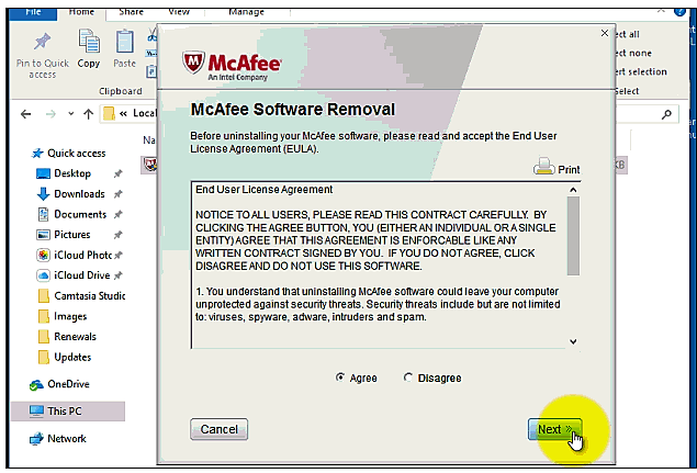 Désinstaller McAfee Windows 10