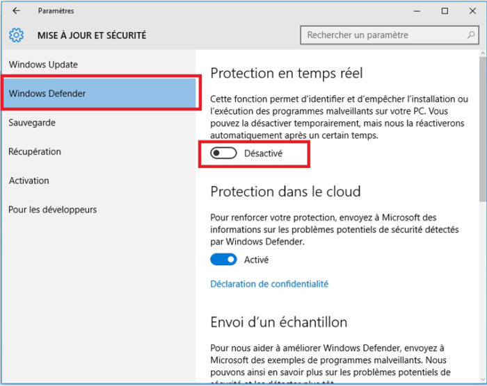 Pourquoi désactiver Windows Defender ?