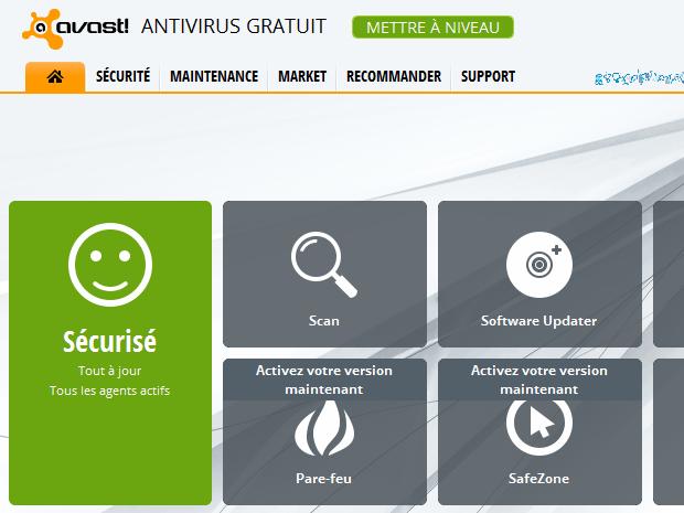 Quelles sont les différentes fonctionnalités d'Avast ?