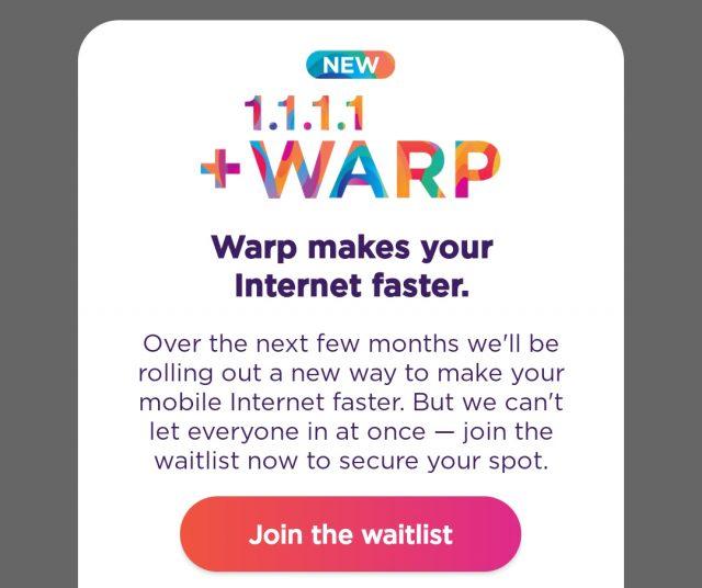 Warp, la nouvelle fonctionnalité VPN gratuite de Cloudflare